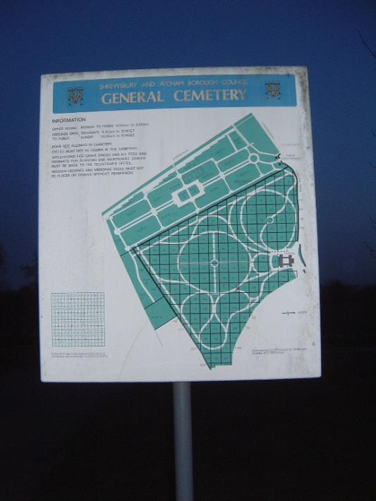 Shrewsbury Cemetery - General Plan